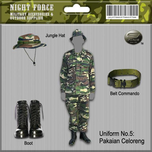 Pakaian Seragam Tentera Malaysia Night Force Military