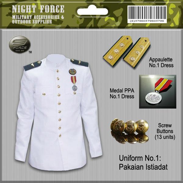 Uniform Custom Made Army Malaysia Night Force Military