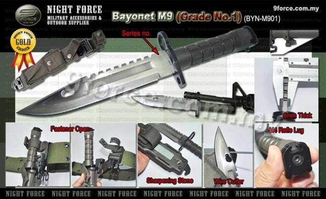 M9 Bayonet M4 Refle Bayonet Night Force Military
