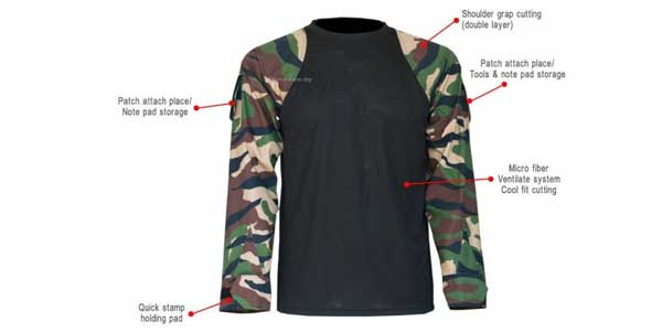 Nf combat shirt v2 0 more fit and comfortable jungle for T shirt supplier wholesale malaysia
