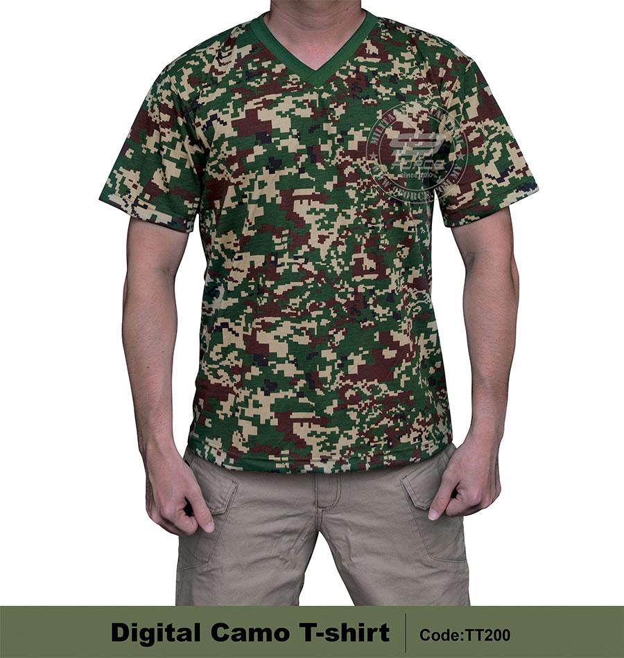 T Shirt Digital Camo Night Force Military Outdoor